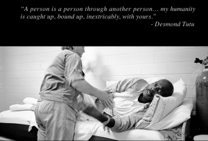 Photographs of inmates in a prisoner-run hospice program in a maximum security prison