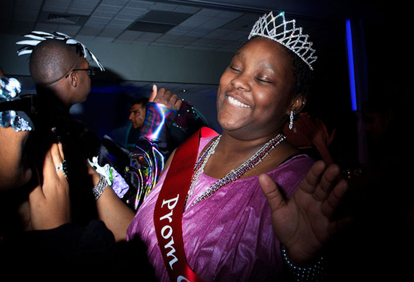Photograph of young people struggling with health challenges at the Montefiore Medicla Center Prom