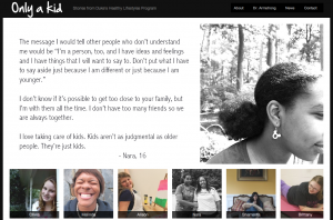 First-person stories from kids enrolled in Duke's Healthy Lifestyles program
